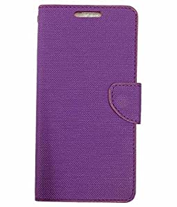 Scudomax SM Durable Leather Finish Flip Cover for Lenovo ZUK Z1 - Purple
