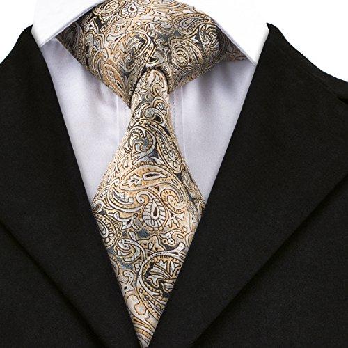 CAOFENVOO Herren Krawatte Gelb