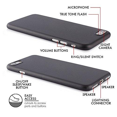 """QUADOCTA iPhone 7 (4,7"""") Ultra Slim Hülle - Schutzhülle - """"Tenuis"""" in Schwarz - Ultra dünnes Case - Leicht transparentes Cover kompatibel mit Apple iPhone7 mit Kameraschutz Set: 2 x Solid Schwarz"""