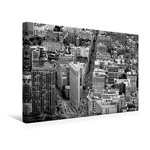 Calvendo Premium Textil-Leinwand 45 cm x 30 cm quer, Blick auf das Flatiron Building | Wandbild, Bild auf Keilrahmen, Fertigbild auf echter Leinwand, Leinwanddruck Orte Orte