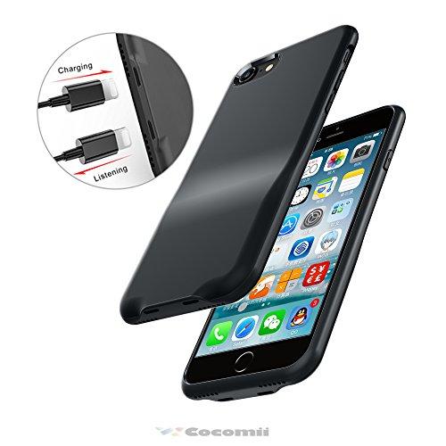 Cocomii Duo Lightning Audio Armor iPhone 8/iPhone 7 Hülle [Dual Lightning Jack Adapter Hülle] Anruf+Audio+Ladegerät Laden Und Musik Hören Case Schutzhülle for iPhone 8/iPhone 7 (Duo.Black) Duo Shield Armor Case