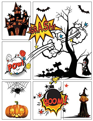 Blank Comic Book Next Generation Trick or Treat Halloween Gift: Lots of Templates, Large or Big 8.5