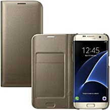 Coque Samsung Galaxy S7 Edge, Ordica France® Housse Galaxy S7 Edge Etui Portefeuille Or Rabatable Rabat Protection Pochette Refermable Integrale Flip Cover