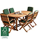 Robert Dyas Country Hardwood Extending Dining Set – 190-230cm