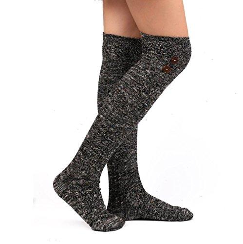 ocken Lange Socken über Knie hohe Socke Overknee Strümpfe (Dunkelgrau, 50cm/19.68