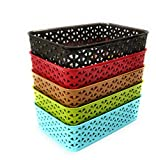 #9: CSM Baskets for Multi Storage Medium Size - Pack of 5 in Assorted Colors
