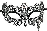Coddsmz - Máscara Veneciana de Metal con Corte láser para Cosplay o Fiesta, diseño de Diamantes de imitación
