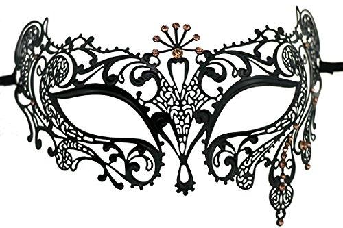 Fashion Laser geschnitten Strass Metall venezianischen Cosplay Party Masquerade (Maske Strass)