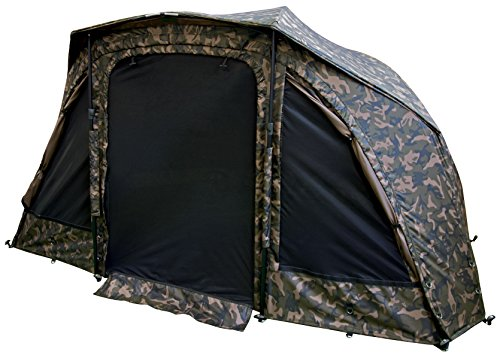 Fox Supa Brolly 60' MK2 System Camo Karpfenzelt, Angelzelt, Zelt zum Karpfenangeln, Schirmzelt