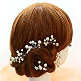 #9: Rrimin Wedding Bridal bridesmaid Pearl Flower Headpiece Hair Pin Hairpin Faux Pearl Pin
