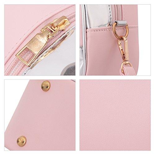 Novias Boutique, Borsa a zainetto donna argento Silver Pink