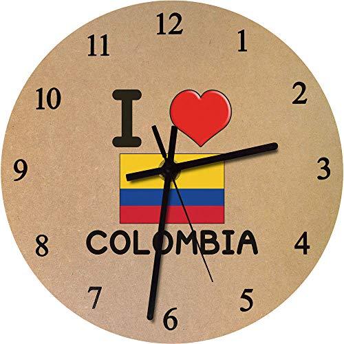 Azeeda 275mm 'I Love Colombia' Reloj de Pared Grande de MDF (CK00000074)