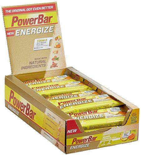 Energieriegel Energize mit Magnesium und Natrium – Fitness-Riegel, Kohlenhydrate Riegel mit Hafer, Früchten und Maltodextrin bei erhöhtem Energiebedarf – 25 x 55 g Mango Tropical (Tropical Berry Geschmack)