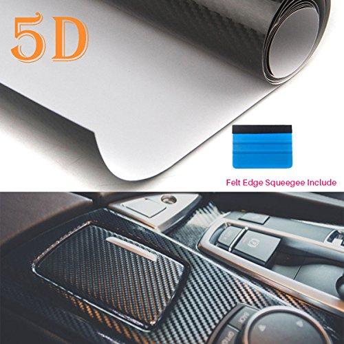 Peatop rivestimento in fibra di carbonio vinilica 5d, lucido, a libero rilascio d'aria. rotolo di pellicola a trama grande