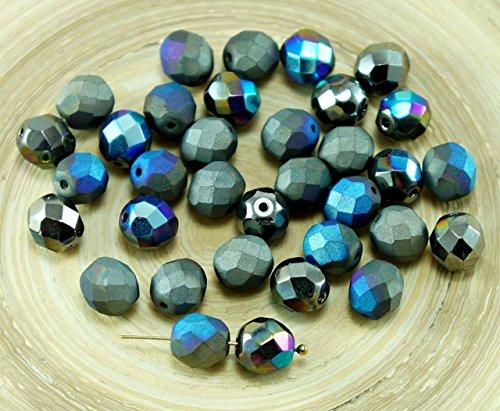 20pcs-nuova-finitura-scintillante-grigio-grafite-arcobaleno-meta-opaco-ceca-rotondo-in-vetro-sfaccet