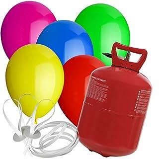 paduTec Heliumset Ballons Heliumballons Helium Ballongas und Schnellverschlüsse für die perfekte Geburtstagsfeier! Egal ob groß oder klein!