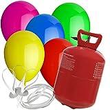paduTec Heliumset Ballons Heliumballons Helium Ballongas und Schnellverschlüsse für die perfekte Geburtstagsfeier! Ega