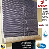 tclpvc Bamboo Roll-up Blind Window Chick Closer 4 Sizes (Beige)