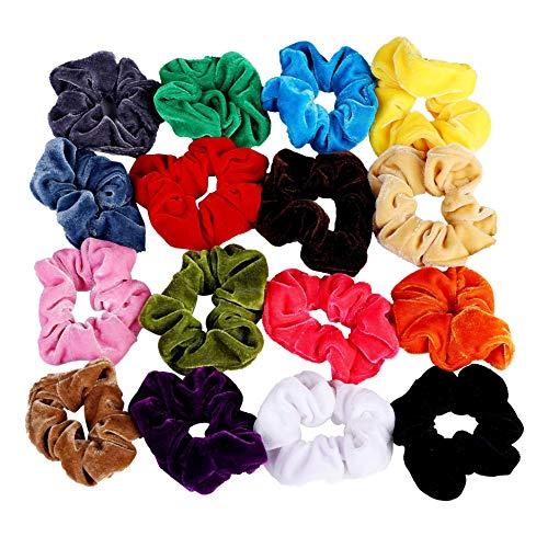 tisch Haarbänder Bunt Weiche Elegante Elastische Haarbänder 11cm für Frauen Mädchen 16 Stück ()
