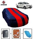 #10: Spaiko Car Body Cover for Toyota Platinum Etios with Storage Bag + Microfiber Glove + Perfume! (Red & Blue)