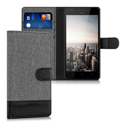 kwmobile HTC Desire 530 Hülle - Kunstleder Wallet Case für HTC Desire 530 mit Kartenfächern & Stand