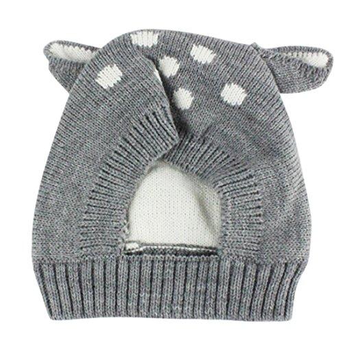 , Kobay Herbst Und Winter Babymütze Mädchen Jungen Cap Kinder Hüte Kleinkind Kinderhut (Geeignet für 0-3 Jahre alt, Grau) (Carhartt-schnee-handschuhe)