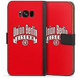 Samsung Galaxy S8 Plus Tasche Hülle Flip Case 1. FC Union Berlin Fanartikel Fußball