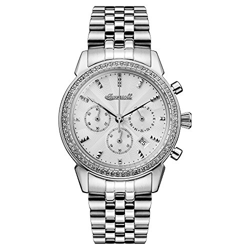 Ingersoll Women's The Gem Quartz Watch with Silver Dial and Silver Stainless Steel Bracelet I03903