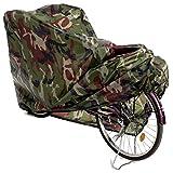 Copribici Copri Bicicletta Copertura Biciclette Antipolveri Antipioggia Telo Protettivo Impermeabile per 1 Bicicletta, Verde mimetico