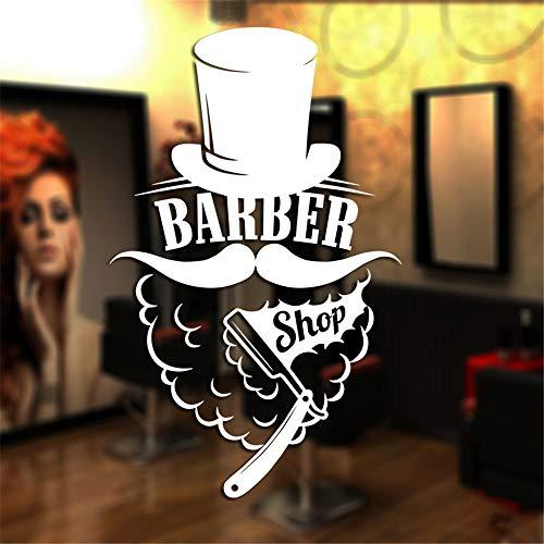 lyclff Mann Friseur Aufkleber Shave Chop Brot Aufkleber Haarschnitt Rasierer Poster VinylWandkunst AufkleberDecor Windows99 * 160 cm - Nyc Kleines Poster