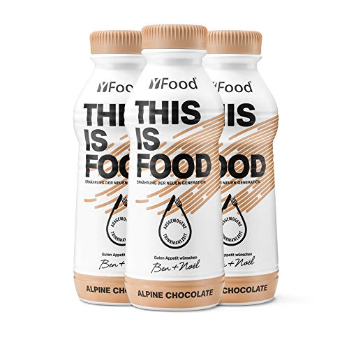 YFood Schokolade | Laktose- und glutenfreier Nahrungsersatz | 33g Protein, 26 Vitamine und Mineralstoffe | Leckere Astronautennahrung - 25{a1f658c0bd1f0b3d7653e7ef727e31f49f97083eb200e620dc38c24494b9b48d} des Kalorienbedarfs | Trinkmahlzeit, 12 x 500 ml (1 kcal/ml)