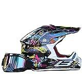 Erwachsenen Motorrad Geländewagen spezialisiert für Heren Damen Sicherheit Schutz,mit schutzbrille (M)