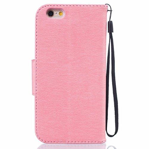 "iPhone 6 Case,iPhone 6S Housse, LANDEE Mince Clamshell Feder Motif Carte Slots Support Bouton Case Housse Cover Étui Coque pour iPhone 6 / iPhone 6S (4.7"")(6S-P-603) 6S-P-605"