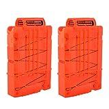 TXXCI Soft Bullet Clip Pistole Clip Reload Clip Magazine für 5 Darts Für Nerf N-Strike Elite Serie Spielzeuggewehre - Transparent Orange 2 Pcs
