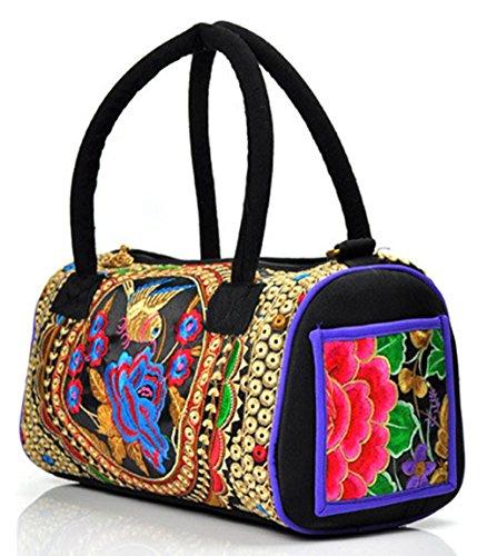 Keshi neuer Stil Damen Handtaschen, Hobo-Bags, Schultertaschen, Beutel, Beuteltaschen, Trend-Bags, Velours, Veloursleder, Wildleder, Tasche Mehrfarbig