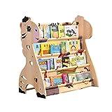 Storage racks Xiaolin Kinder Sling Bücherregal - Schlafzimmer Lagerung Bücherregal Cartoon Massivholz Bild Buchregal Größe Optional (Farbe : A, größe : 75 * 40 * 75cm)