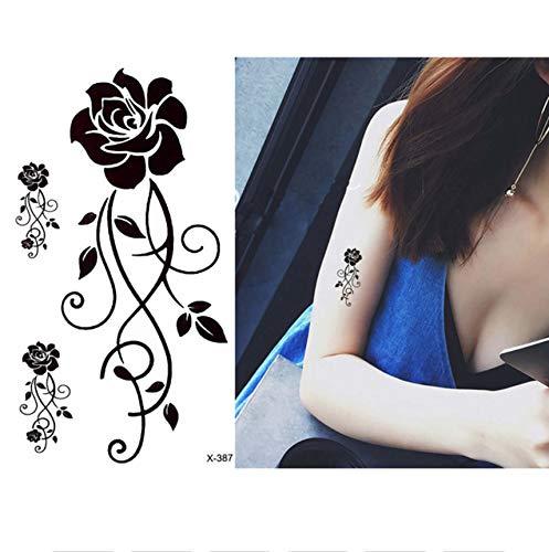 Tatuaggio temporaneo grande bellezza piccolo fiore farfalla tatuaggio temporaneo corpo gamba braccio art decal calza pizzo tatuaggio per bellezza donna 10.5 * 6cm 6pz