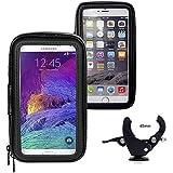 iBroz® - Support Moto universel, Scooter Tmax etc... ou Vélo sur guidon avec Housse étanche pour iPhone 6 Plus, 7 PLUS SAMSUNG GALAXY S3, S4, HTC ONE, GOOGLE NEXUS 4,, Nokia LUMIA, Sony XPeria Z.. (largeur Max : 9cm - Haut: 15.5cm)