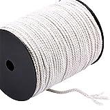 FineInno 4mmx200m Makramee Garn 218yd Natur Baumwolle Kordel Cotton Cord chnur Rope Fäden für DIY Handwerk Basteln Wand Aufhängung Pflanze Aufhänger (4mmx200m)