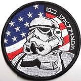 Star Wars USA Flagge Schwarz Bordüre bestickt abzeichen Patch Aufnäher oder zum Aufbügeln 8.24cm