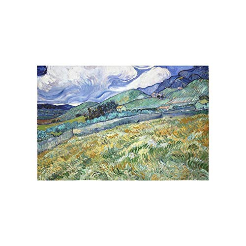 Alfreen Tapestry Art Decor, Post Impressionist Post Impressionism Fine Art Blue 1428136 Tapestries Wall Hanging Flower Psychedelic Tapestry Wall Hanging Indian Dorm Decor for Living Room Bedroom - Fine Art Tapestry Wall Hanging