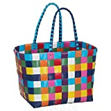 Witzgall Shopper Vintage Style 5010 14 ELLA bunt, 37cm x 24cm x 28cm, Einkaufstasche, Einkaufsshopper
