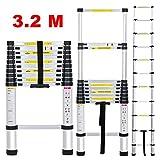 Finether KT320 échelle télescopique en aluminium, normes EN131 (3.2m)