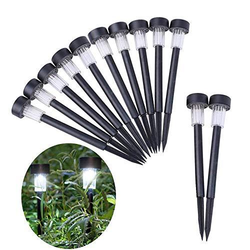 MYPNB Solar LED Garten Außenleuchte 12 Stücke von Outdoor Pfad Licht Spot Lampe Solar Power Yard Garten Rasen Landschaft, Landschaft Lichter, Gartendekoration Licht, Rasen Licht LED (Color : Color C) -