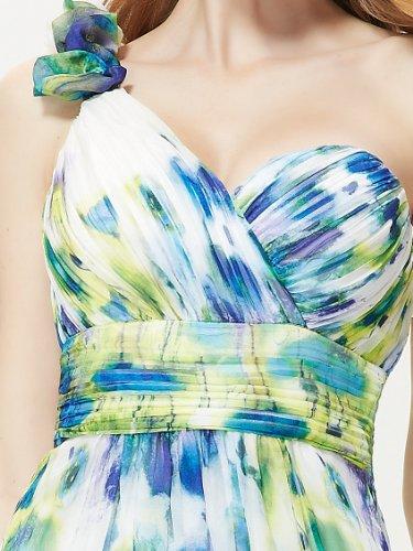 Ever Pretty Robe de Plage Imprimee Fleurie Maxi Mousseline 08032 Vert