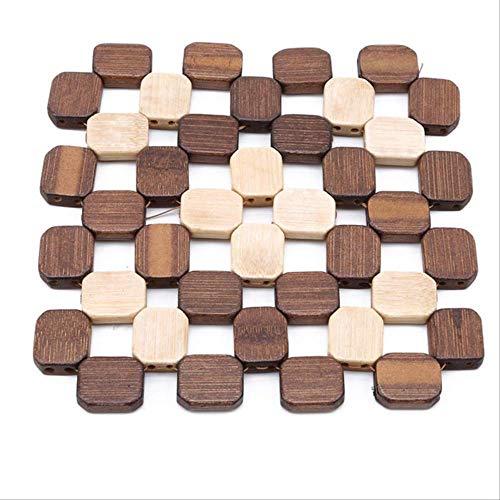 Coaster Kzfs Mesa De Escritorio Alfombrillas Cuadradas Bambú Placemats Resistente Al Calor Hot Pad Posavasos Cocina Lugar Mat Pequeño