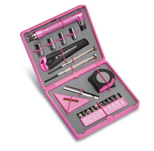 Werkzeugset für die Frau Toolbox Perfect Pink