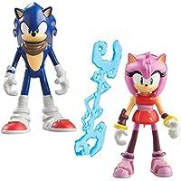 Sonic Boom 3 pulgadas Sonic the Hedgehog y Amy Rose articulado figura con accesorios (Pack de 2)