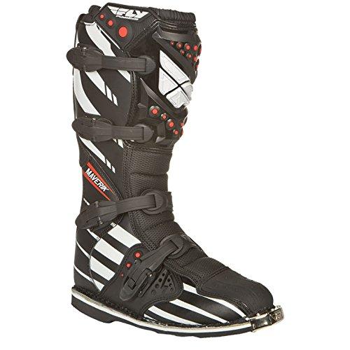 Fly Racing Motocross-Stiefel Maverik Schwarz Gr. 47 -