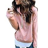 Damen Kapuzenpullover Langarm Sale Mode Große Größe Warmer Flauschiger Winter-oberster Hoodie-Sweatshirt mit Kapuze Pullover